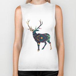 Deer abstract Biker Tank