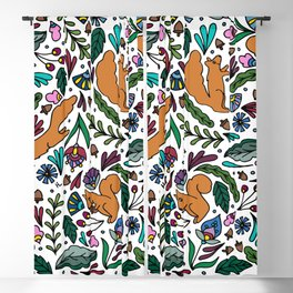 Squirrels and Acorns Blackout Curtain