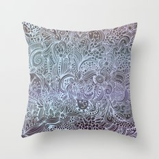 Detailed square, grey'n wedgwood Throw Pillow
