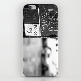 New York Fire and Police black and white iPhone Skin