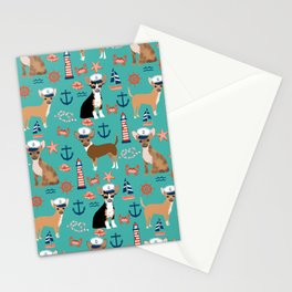 Chihuahua nautical sailor dog pet portraits dog costumes dog breed pattern custom gifts Stationery Cards