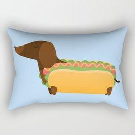 Wiener Dog in a Bun Rectangular Pillow