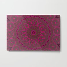 Lovely Healing Mandalas in Brilliant Colors: Plum, Copper, and Pink Metal Print