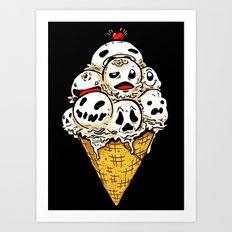 I Scream on Friday the 13th Art Print