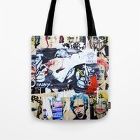 celebrity Tote Bags featuring Celebrity by Paper Possible