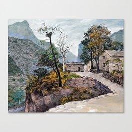 Rain in the fall Canvas Print