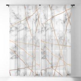 Marble Geometry 051 Sheer Curtain
