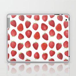 Strawberries watercolor Laptop & iPad Skin