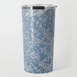 Snow and water condensation texture Travel Mug