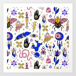 Magic pattern no1 Art Print