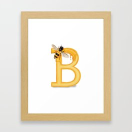 B is for Bee Framed Art Print