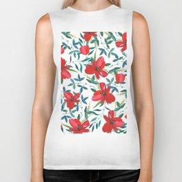 Red Blossom #society6 #decor #buyart Biker Tank