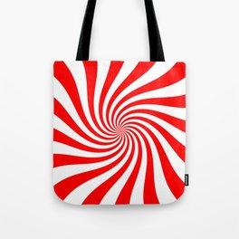 Swirl (Red/White) Tote Bag