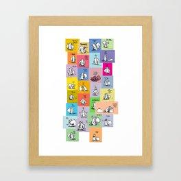 collage of bob Framed Art Print