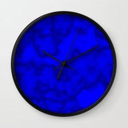 Intense Blue Smoke Wall Clock