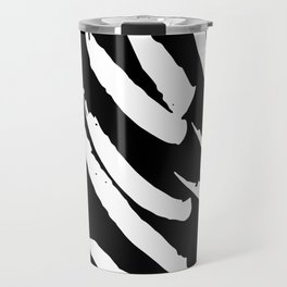 Black and White Brush Strokes Travel Mug