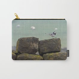 Pied wagtail in the rain Carry-All Pouch