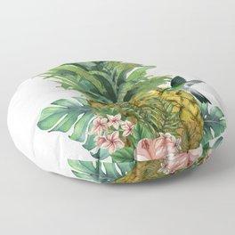 Tropical Pineapple Floor Pillow