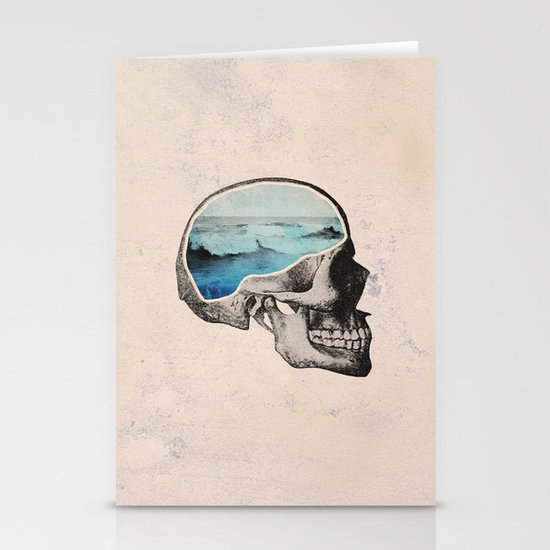 Brain Waves Stationery Cards