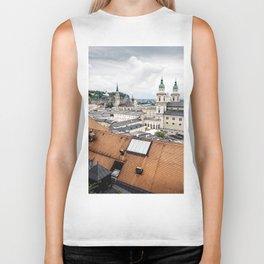Cityscape of Salzburg, Austria Biker Tank