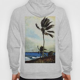 Palm Tree Nassau 1898 By WinslowHomer | Reproduction Hoody
