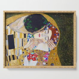 The Kiss by Kustav Klimt - Version by Nymphainna Serving Tray