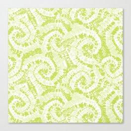 tie dye swirl - lime green Canvas Print