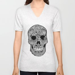 Jewelled Skull Unisex V-Neck