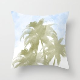 Palms and the sky Throw Pillow