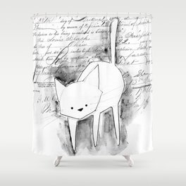 minima - deco cat Shower Curtain