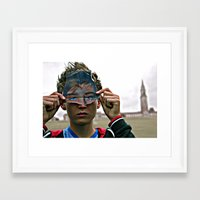 mask Framed Art Prints featuring mask by jamie hudson