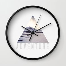 mountain adventure Wall Clock