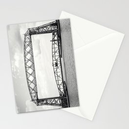 Aerial Lift Bridge-black and white Stationery Cards