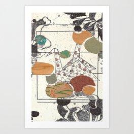 Paper Crane Collage Art Print