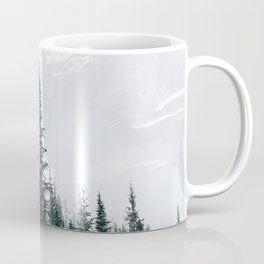 Evergreens in the fog Coffee Mug