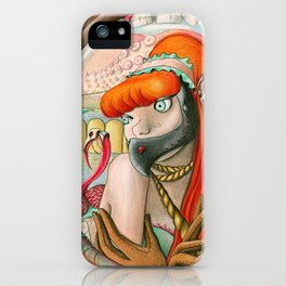When self hatred reflections become insatiable gluttonous starving cannibals iPhone Case
