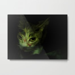 Cat Facets Metal Print