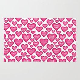 Love heart Valentines love hearts, Rug