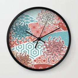 JAP pattern pastel Wall Clock
