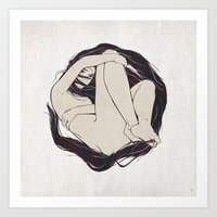 circle Art Prints featuring My Simple Figures: The Circle by Anton Marrast