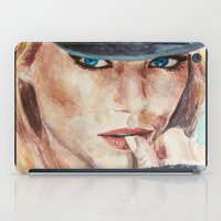 emma stone iPad Cases featuring Emma Stone, blonde by xDontStopMeNow