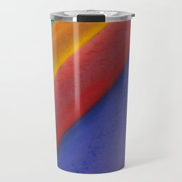 Changeable mood. Abstract background with lines. The texture of pastels. Travel Mug
