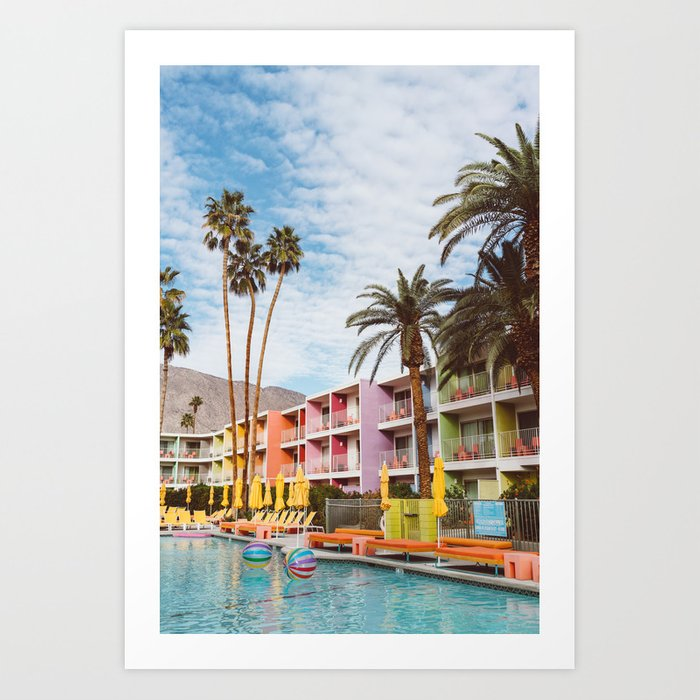 Palm Springs Pool Day Vii Art Print By Bethanyyoung Society6