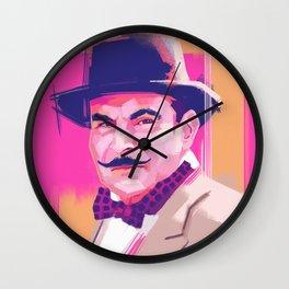 Hercule Poirot Wall Clock