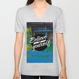 Color Chrome - believe in yourself graphic Unisex V-Neck