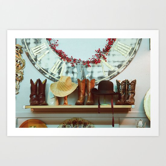 Boots and Hats Art Print