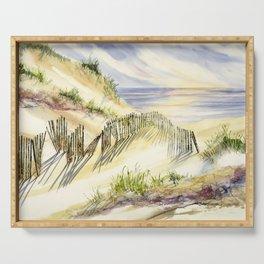 Shoreline Dune Shadows  Serving Tray
