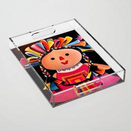 MEXICAN MARIA DOLL*** Acrylic Tray