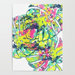 Splatter Monsteras #society6 Poster