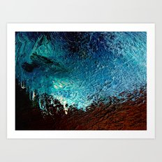 Abstract blue, white and purple painting photography Art Print